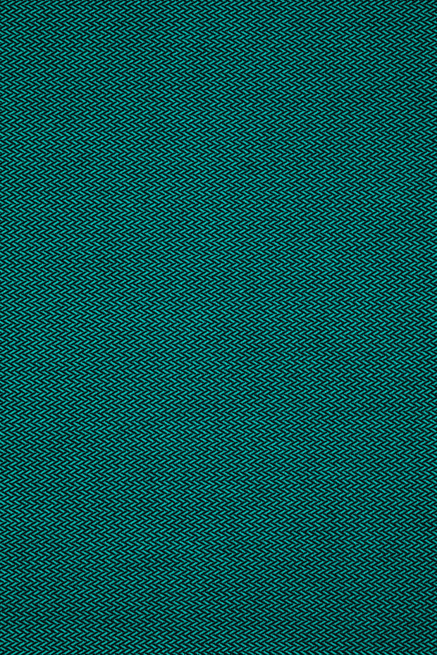 Lenny Lamb long woven wrap - Little Herringbone Emerald - Rich emerald green with herringbone weave and a black weft. Fabric laid flat