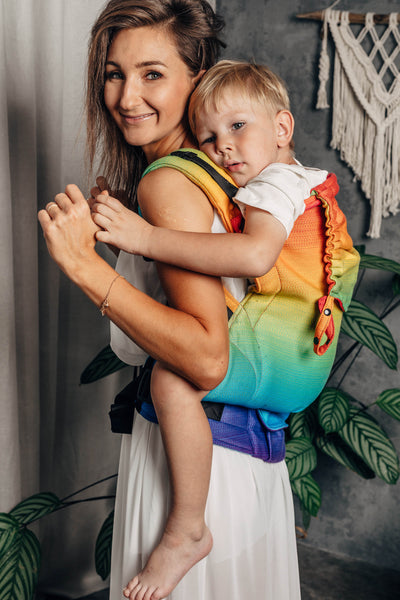 Lenny Preschool Carrier, Rainbow Baby