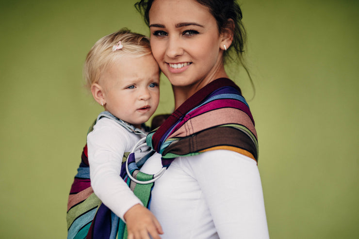 Ring Sling, Carousel of Colors, Gathered