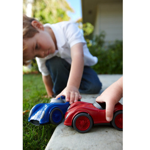 Children play with Race Car from Green Toys. Made in the USA