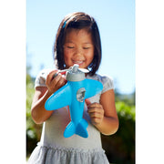 Child plays with the Airplane from Green Toys. Made in the USA