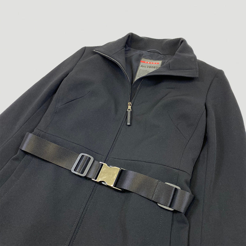 Prada Sport 2000s Metal Buckle Coat
