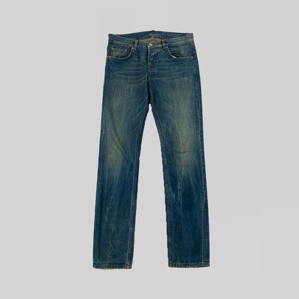Prada 2000s Washed Denim Jeans