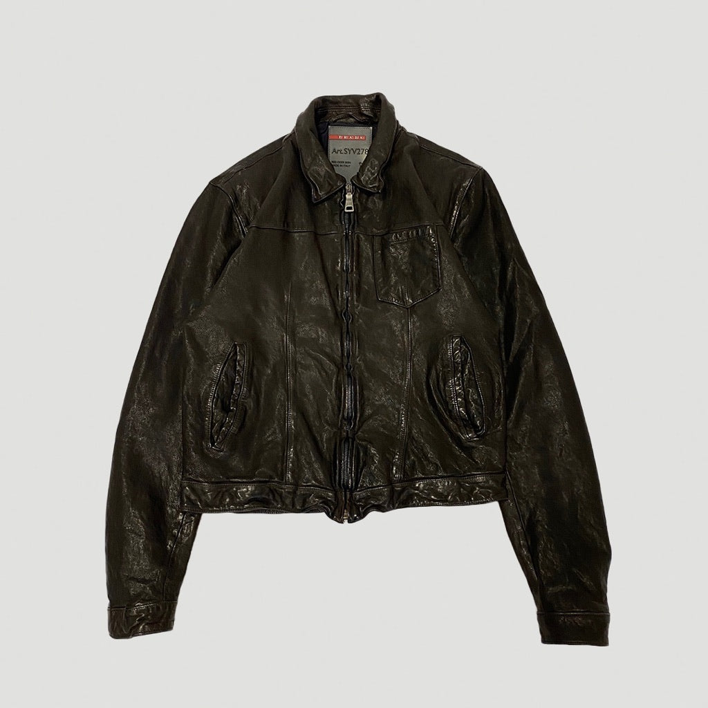 Prada AW2011 Brown Leather Jacket