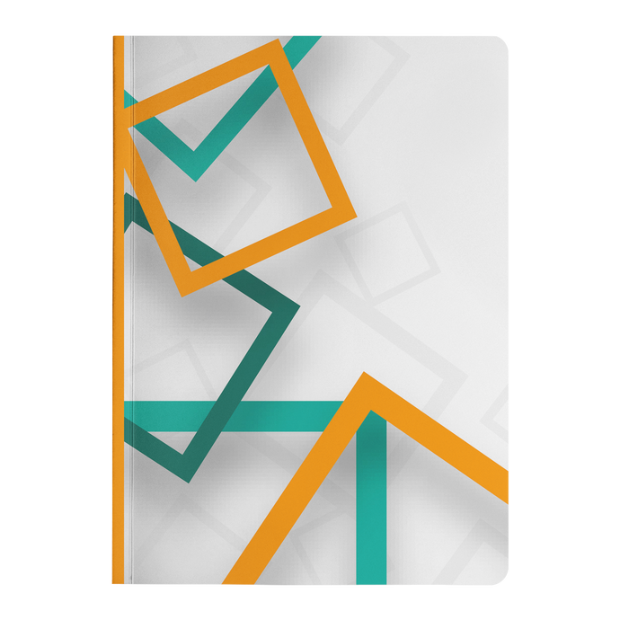 Abstract Squares - Paperback Notebook