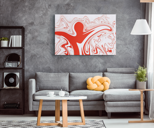 An Abstract Hug - Canvas Print