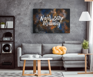 Never Stop Dreaming - Canvas Print