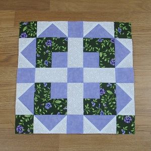 Easy Pattern – Boxed Squares Quilt Block