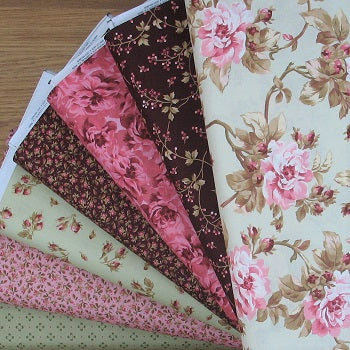 New Fabrics! Burgundy & Blush Collection by Maywood Studio