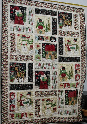 How to Make a Christmas Panel Quilt
