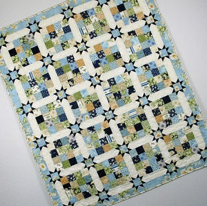 Sixteen Patch Stars PDF Download Quilt Pattern - 5 Sizes Table Topper through Queen