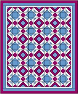 Jackknife Quilt Block Layouts with Fabric Requirements