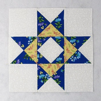 braced star variation quilt block