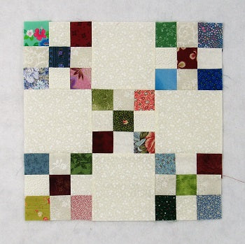 double nine patch quilt block