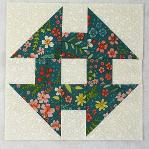Monkey Wrench Easy Quilt Block Tutorial