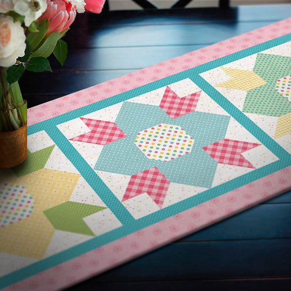 New Quilt Kit - May Blossoms Table Runner by Riley Blake