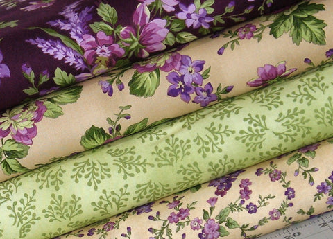 aubergine fabric bundle
