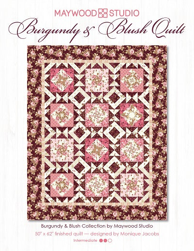 burgundy and blush quilt picture