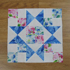 chained star quilt block