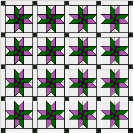two color quilt 2