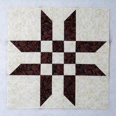 ribbon star quilt block 2