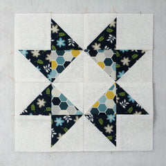 ribbon star quilt block