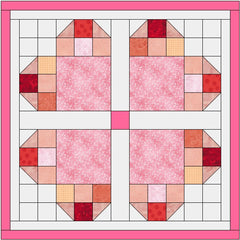 heart quilt table topper