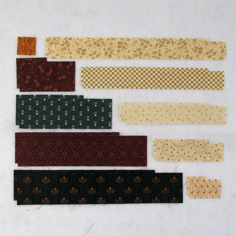 uneven log cabin fabric requirements
