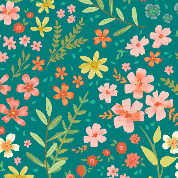garden notes meadow in teal