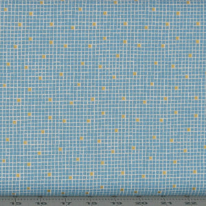 Teal and Gold Metallic Check Fabric from the Lindos Metallic Collection by Lewis & Irene