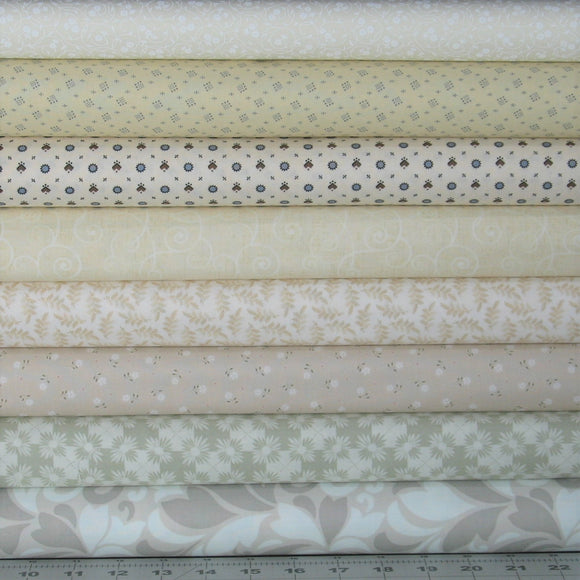 low volume quilt fabric bundle