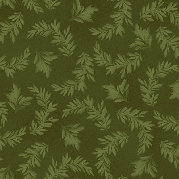 tonal leaves in green