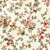 9 Floral and Fruit Fabric Prints and a Charm Pack in Red, Black, Pink, Gold, Green and White from A Fruitful Life Collection by Maywood Studio