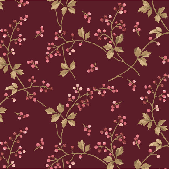 berry vine in maroon