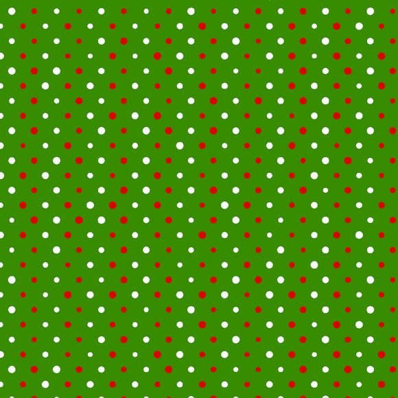 multi dots in green