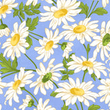 8 Cheerful Floral and Blender Fabrics for Sale in Blue and Yellow, Fresh as a Daisy Collection by Maywood Studio, Cotton Quilt Fabric Bundle