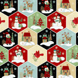 5 Christmas Fabrics Including Panel from the Holly Jolly Christmas Collection by Sharla Fults for Studio e Fabrics, Quilt Fabric Bundle
