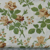 Six Brown, Tan, White and Green Floral Fabrics for Sale, Cotton Quilt Fabric Bundle, Evelyn by Whistler Studios, Fat Quarter Bundle