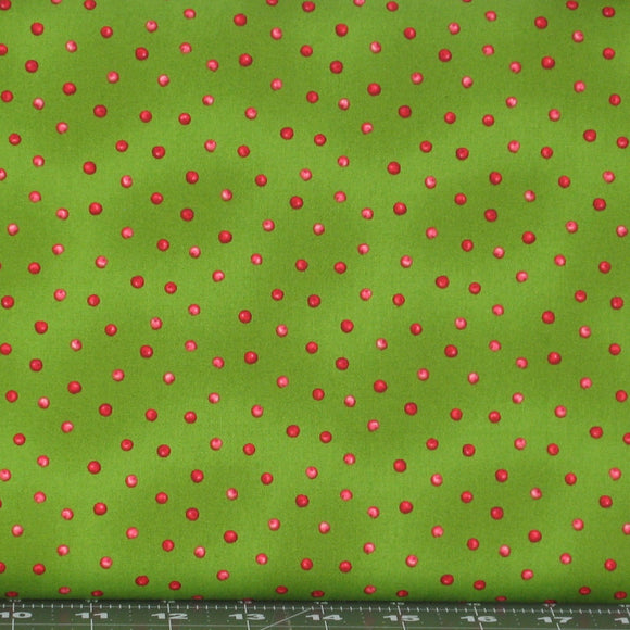 holly berry dots in green