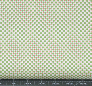 Green and Red Polka Dots on Cream from Retro 30s Child Smile Collection by Lecien Fabrics, 31142-60