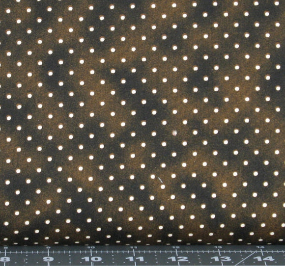 White Polka Dots on Brown from the Beautiful Basics Collection by Maywood Studio, 609-A
