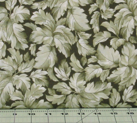 Green Tonal Leaves from the Gentle Breeze Collection by Jan Douglas for Maywood Studio, 8514-G