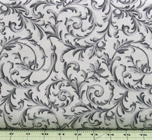 Gray and Black Scroll Design from the Gradiance Collection by Maywood Studio, 8344-K