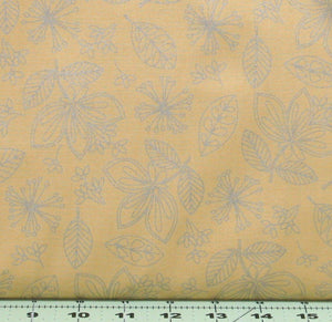Wild Flowers in Gold from the Pearl Essence Collection by Maywood Studios 112-S
