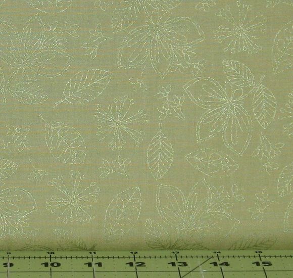 Wild Flowers in Green from the Pearl Essence Collection by Maywood Studios 112-G