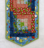 Log Cabin Table Runner Kit using From the Farm Fabrics by Kris Lammers for Maywood Studios