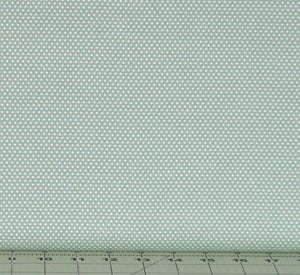 White Polka Dot on Mint Green, Pin Dot by RJR Fabrics, RJR4928-5