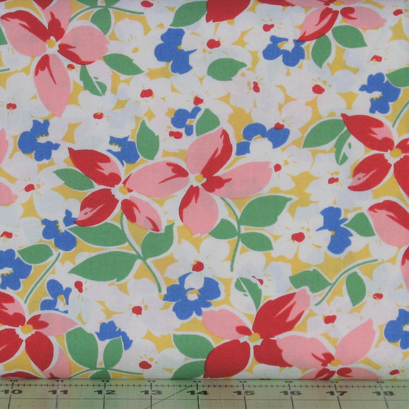 Large Floral in Yellow from the Hi-De-Ho!, a Kim's Cause Collection by Maywood Studio