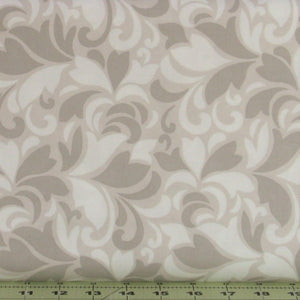 Gray, Tan and Soft White Feather Swirls from the Flint Collection from Red Rooster Fabrics, 468626486-GRY1