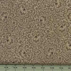 Medium Antique Gray Tonal Floral from the Flint Collection from Red Rooster Fabrics, 468626489-MDGRY1